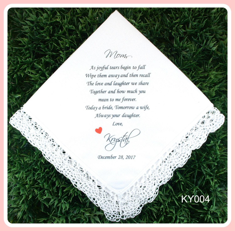 Mother Of The Bride Handkerchief Wedding