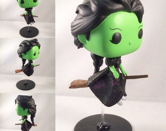 ON SALE! Flying Elphaba Custom Funko Pop | Custom Funko Pop / Wicked Witch / Gifts for Her / Gifts for Him / Broadway / Wicked
