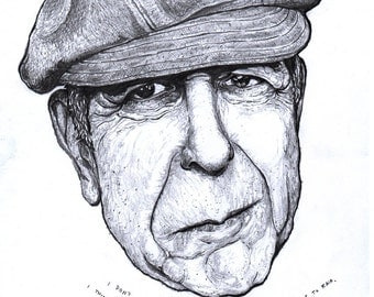 Leonard Cohen Print