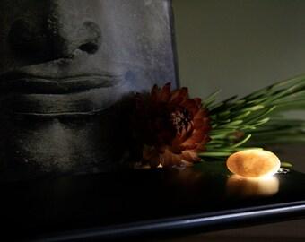 Small Quartz Phone Light Stone - Flashlight Night Light Light - Meditation Point - Flameless Candle - Phone Accessory