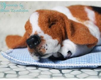 Basset Hound/ Basset/Felted Basset Hound/Needle felted animal/Realistic dog