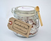 English Rose and Vanilla Luxury Dead Sea Salts In Sweet Almond Oil with Dried Petals, Bath Salts, Soak, Bath Tea