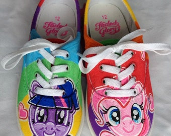 My Little Pony Shoes, Painted Girls Shoes, Painted Vans