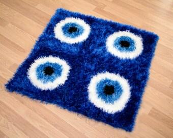 Crochet Evil Eye Rug - MAT007