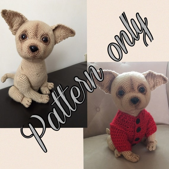 Free Crochet Pattern Chihuahua Sweater : Chihuahua dog crochet pattern PDF free crochet sweater