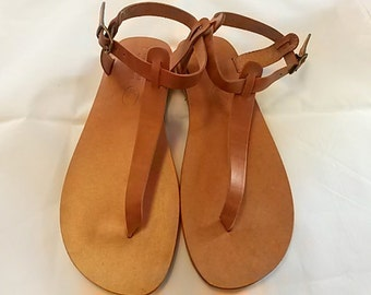 Greek Leather Sandals (41 - Turquoise)