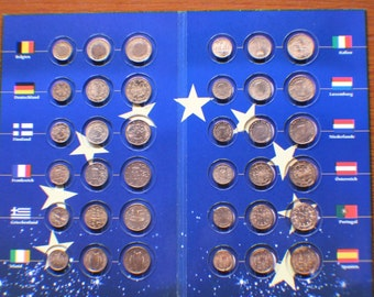 12 Europe Countries 30 coins 1 ,2 & 5 cent Euro coin Set.