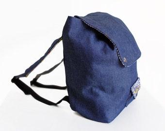 Backpack - Denim + Daisies