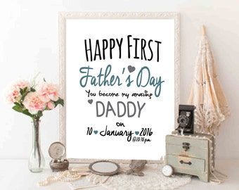 First Father's Day Printable First fathers day gift Personalized Fathers day printable
