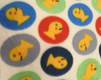Gold fish baby blanket fleece