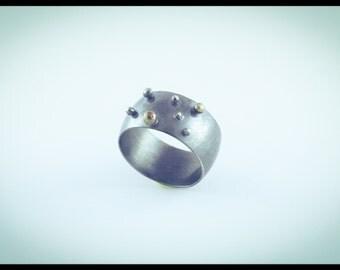 Granular Silver Ring