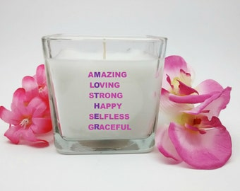 Mother, Candle, Mothers Day Gift, Mom Candle, Special Gift Idea, Gift for Mom, Gift Ideas, Custom Candle, Personalized Candle, Unique Gift