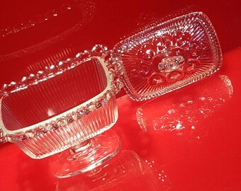 30s VTG Pedestal Candy Dish by Indiana Glass