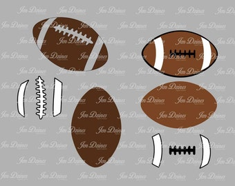 Football laces SVG DXF EPS, svg cutting files for Cricut Silhouette, football svg design, football designs cut, sports svg