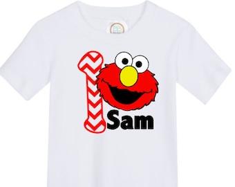 boys' personalized elmo birthday shirt vinyl custom