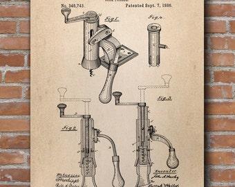 Corkscrew Patent Print, Corkscrew Art, Restaurant Decor, Kitchen Wall Decor, Patent Print - DA0629