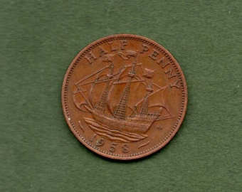 Great Britain. 1958.Geo.V Halfpenny Coin.
