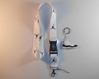 Jordan lanyard with Jordan keychain. New!!