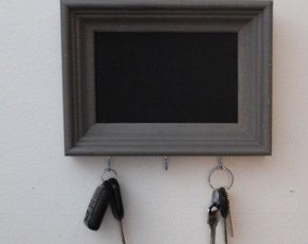 Shabby Chic Key Holder with Chalkboard Interior