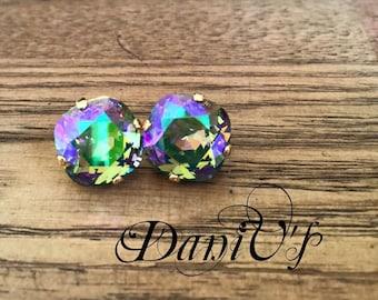 12mm Swarovski Crystal Earrings