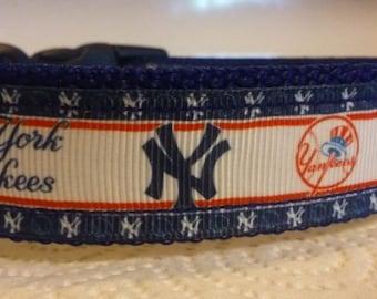 New York Yankees dog collar Adjustable nylon