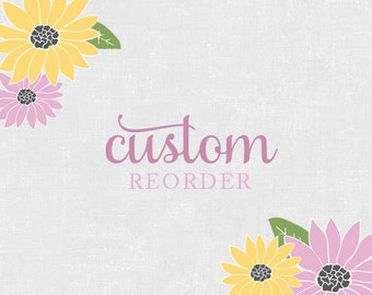 Custom Reorder - Planner Stickers for Erin Condren Life Planner, Plum Paper or Mambi Happy Planners