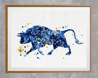 Printable Bull Instant Download bull digital print wild bull instant download illustration archival files bull digital poster