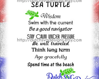 Text cutting file Sea Turtle, in Jpg Png Studio3 SVG EPS DXF, for Cricut & Silhouette curio cameo, quote turtle tortue tortuga Schildkröte