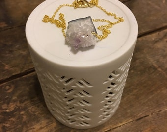 """17"""" Amethyst Gold Layering Necklace"""