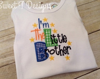 Little brother shirt - Newborn boy outfit - Sibling shirt -Baby Boy coming home outfit - Little brother outfit - newborn boy clothes