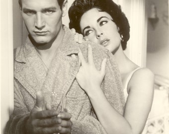 Paul Newman Elizabeth Taylor Cat On a Hot Tin Roof Hollywood Poster Art Photo Artwork 11x14 or 16x20