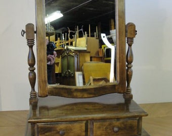 solid cherry dresser shaving mirror