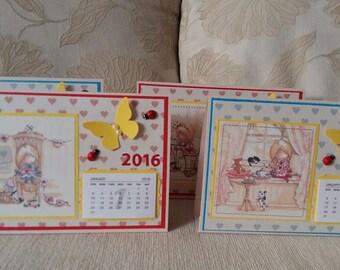 Desk Calendar, 2016 Calendar, Children calendar