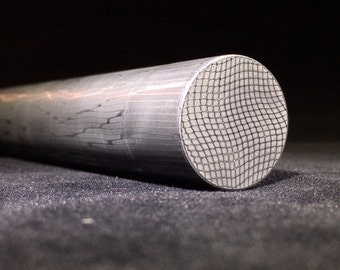 "Stainless Damascus Steel, 1"" Spirograph Damascus Rod, Damascus Ring Steel, stainless damascus round bar"