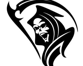 Grim Reaper Decal - vinyl decal - deathdecal