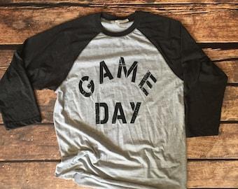 Game Day Shirt, Baseball Tee, Raglan Shirt, Football Shirt, College Football, School Spirit, Spirit Week