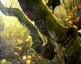"""25 % OFF SALE! 32"""" x 28"""" Classic oil painting, Original Painting on Canvas, nature, Realism, wall art"""