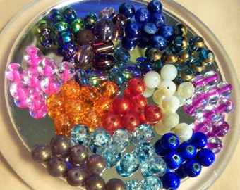 Glass Beads, Bead Lots, Miscellaneous Beads, Grab Bag B