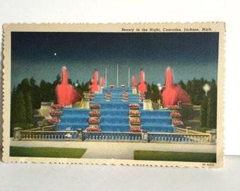 Vintage Postcard Jackson Michigan/ Vintage Postcard