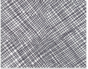 Crosshatch White Black - THICKET - by Gingiber for Moda Fabrics - Geometric - 48204 11