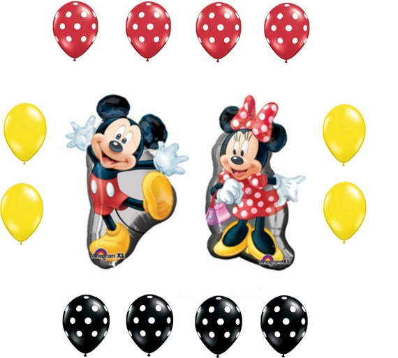Disney Minnie And Mickey Mouse Birthday Balloons Foil