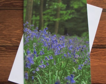 Flower Greetings card C5 Portrait - Bluebells