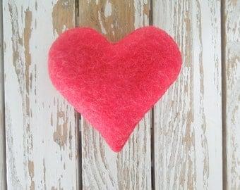 Red valentine heart,heart,felt heart,ornament,christmas,wedding,valentine,gift,decoration,love,valentine gift,wool heart,