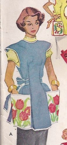 Misses cobbler apron pattern 1950s from wardacollection for Patron tablier vintage