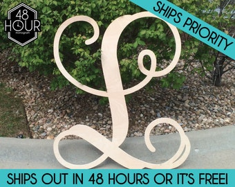 any size 12 36 single letter wooden monogram unpainted large wooden monogram sale monogram decoration personalized custom wall hanging