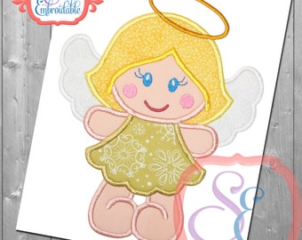 Angel Cutie Applique Design For Machine Embroidery  INSTANT Download