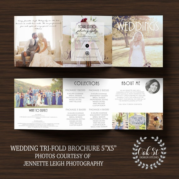 Wedding Photography Brochure Ideas: PHOTOGRAPHER Wedding Brochure Template Modern Wedding