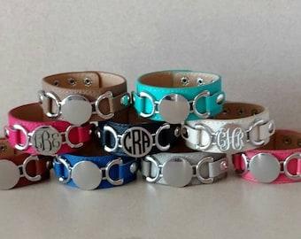 Personalized leather cuff bracelet, personalized bracelet, bracelet, Christmas gift, monogrammed bracelet, leather cuff bracelet, initial