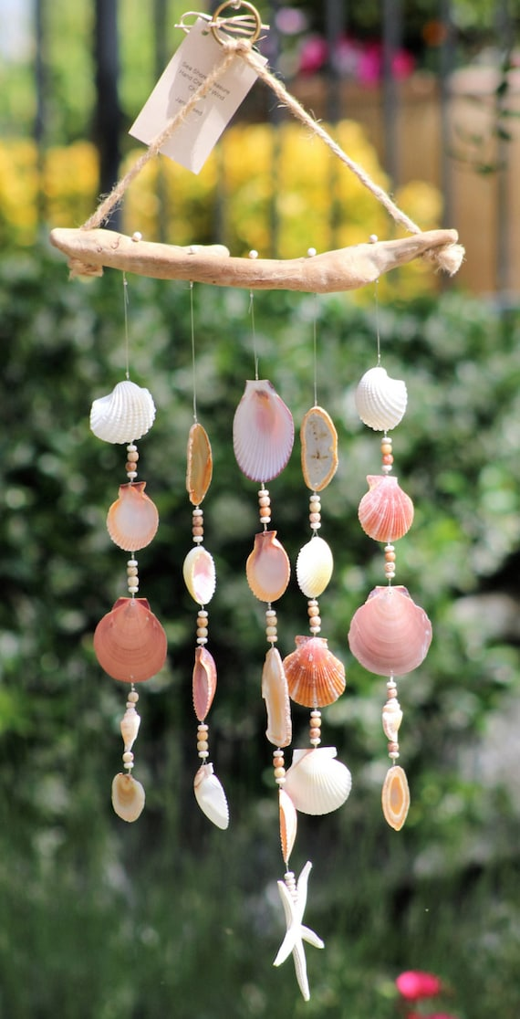 Driftwood Seashell Wind Chimes Handmade Wind By