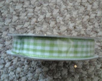 green gingham ribbon